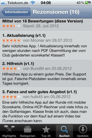 GOLF-INDEX.eu fü Ihr iPhone (PRO Version)